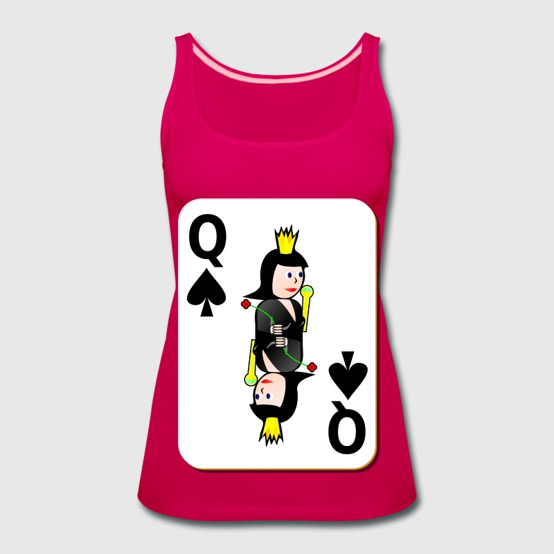 White Deck: Queen of Spades - Women's Premium Tank Top
