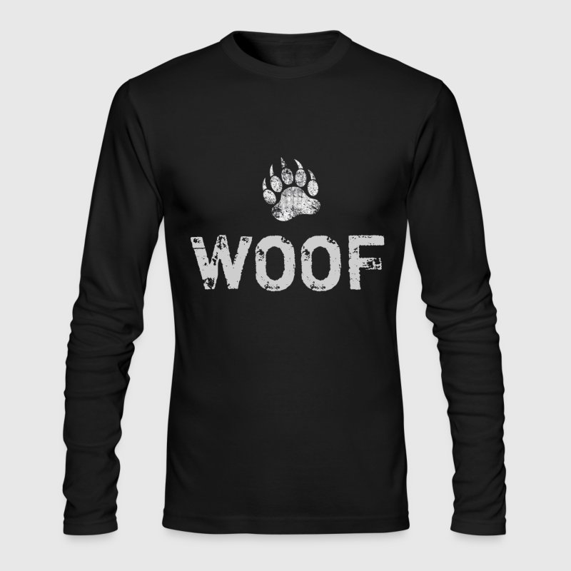 Gay Bear Pride distressed Bear Paw WOOF - Men's Long Sleeve T-Shirt by Next Level