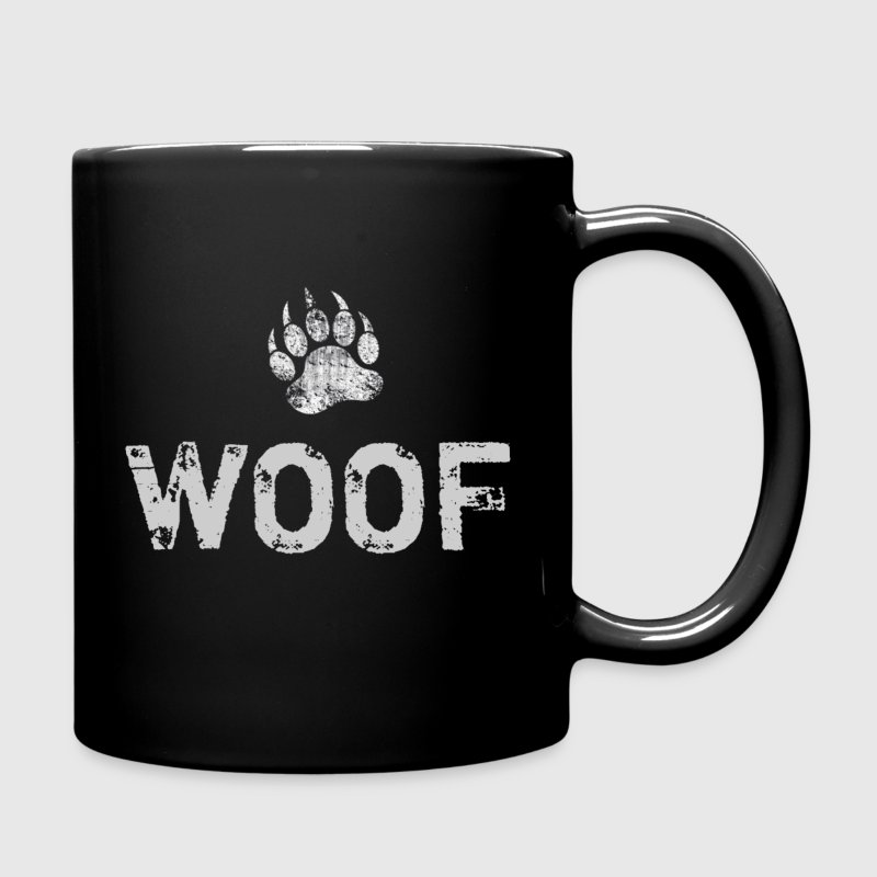 Gay Bear Pride distressed Bear Paw WOOF - Full Color Mug