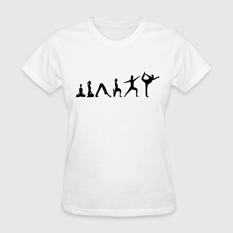 Yoga Evolution vector Women's T-Shirts - Women's T-Shirt