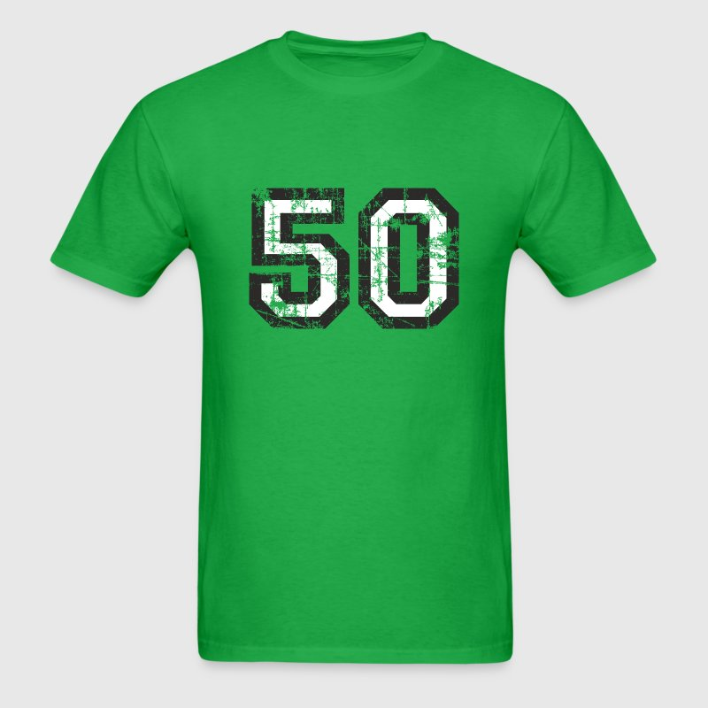 Number 50 Birthday T-Shirt (Men Black/White) Vinta - Men's T-Shirt