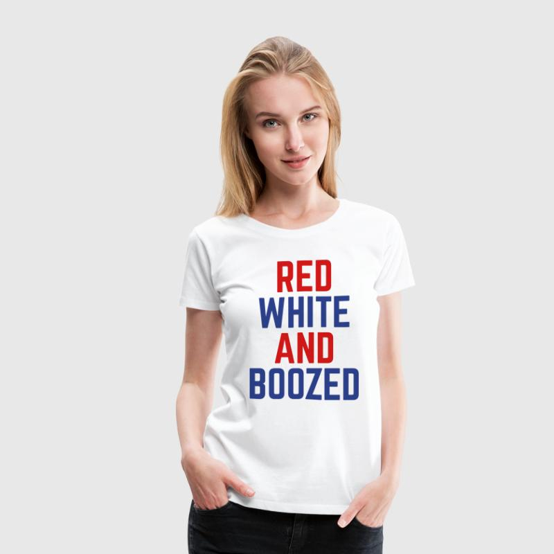 Red, White And Boozed  Women's T-Shirts - Women's Premium T-Shirt