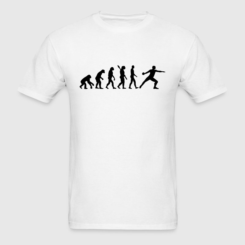 Evolution Discus throw T-Shirts - Men's T-Shirt
