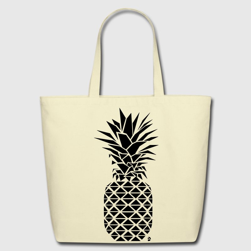AD Geometric Pineapple Bags & backpacks - Eco-Friendly Cotton Tote