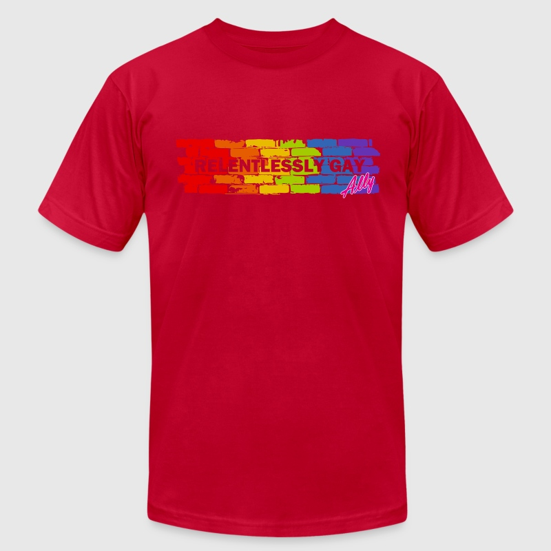 Relentlessly Gay Ally T-Shirts - Men's T-Shirt by American Apparel