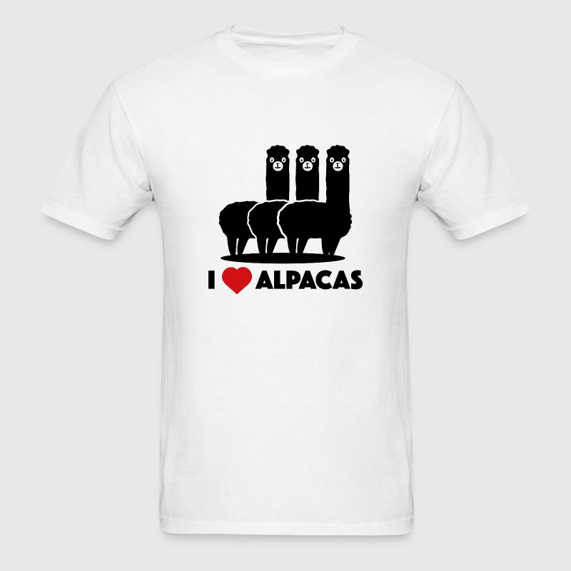 I Love Alpacas - Men's T-Shirt
