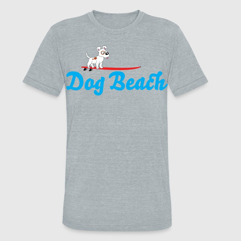 Dog Beach Ocean Beach San Diego T-Shirts - Unisex Tri-Blend T-Shirt by American Apparel