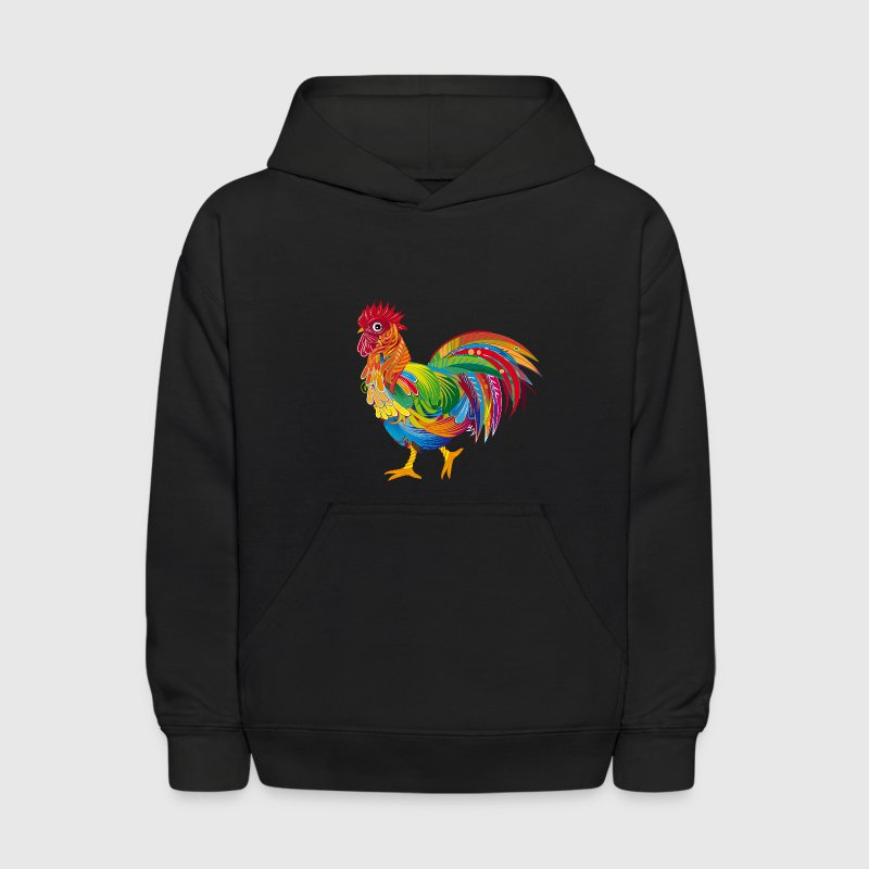 An ornately decorated rooster Sweatshirts - Kids' Hoodie