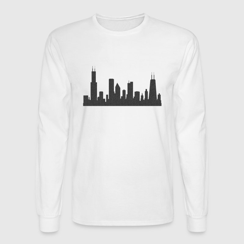 Chi Chicago Skyline Silhouette  Long Sleeve Shirts - Men's Long Sleeve T-Shirt