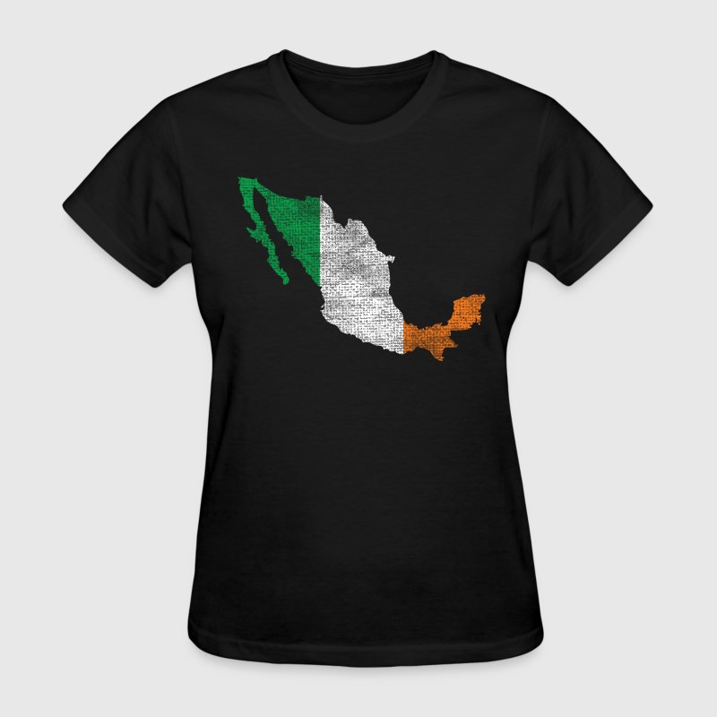 Mexico Mexican Irish Ireland Flag Women's T-Shirts - Women's T-Shirt