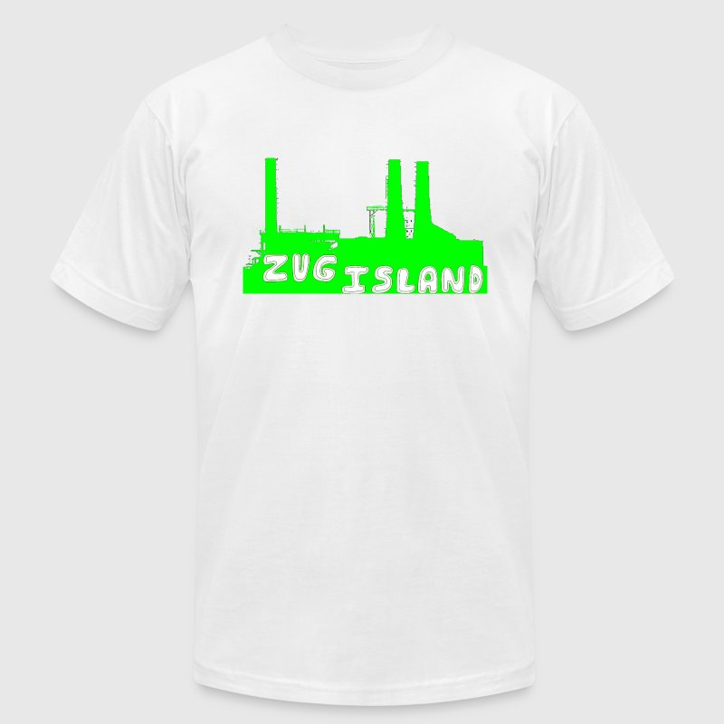 Zug Island Detroit River Industry T-Shirts - Men's T-Shirt by American Apparel