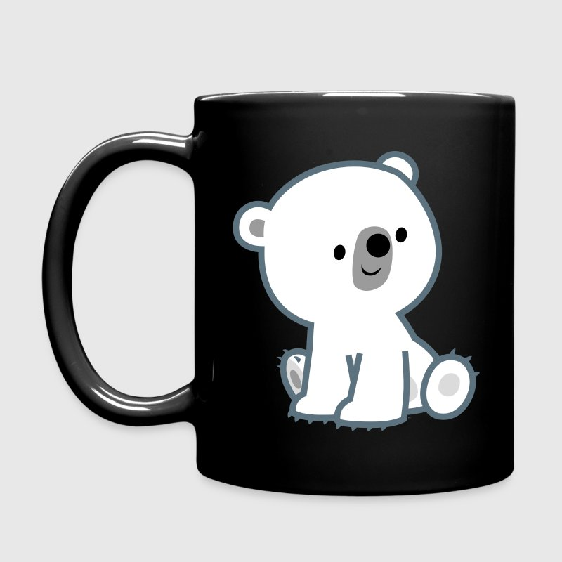 Sweet Cartoon Polar Bear Cub by Cheerful Madness!! Mugs & Drinkware - Full Color Mug