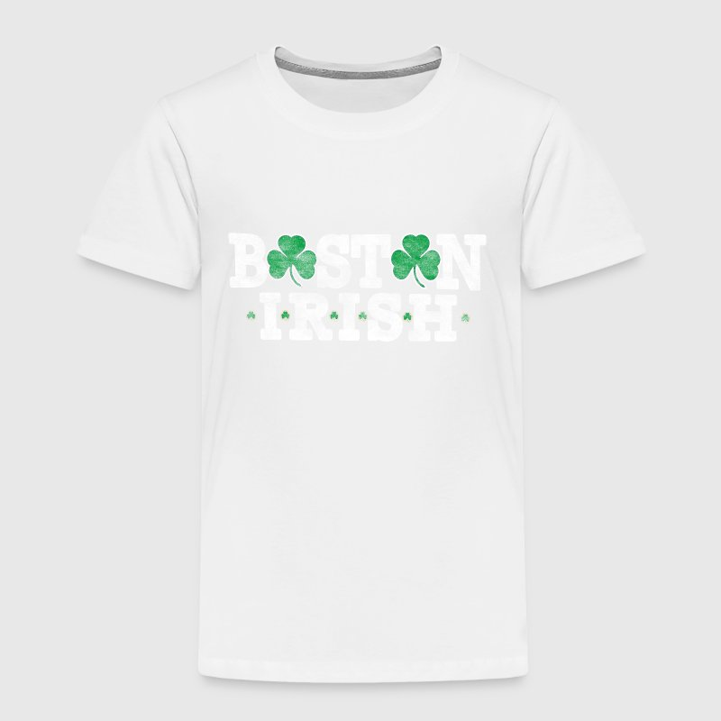 Boston St. Patrick's Day Irish Shamrock Baby & Toddler Shirts - Toddler Premium T-Shirt