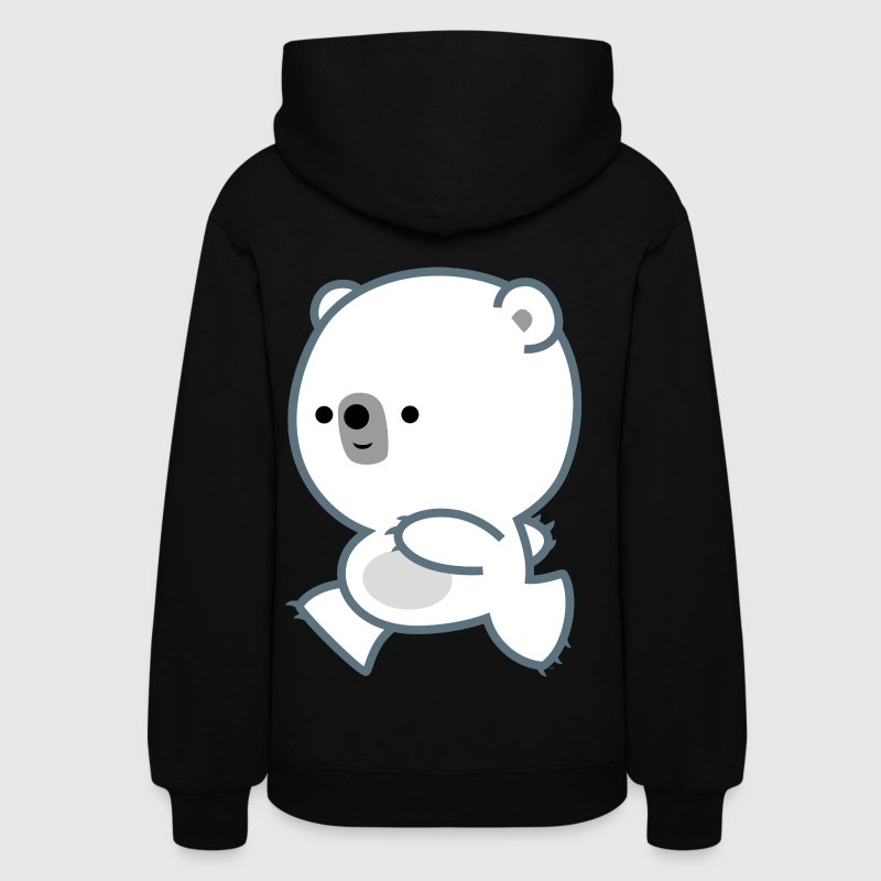 Cute Lively Polar Bear Cub by Cheerful Madness Hoodies - Women's Hoodie