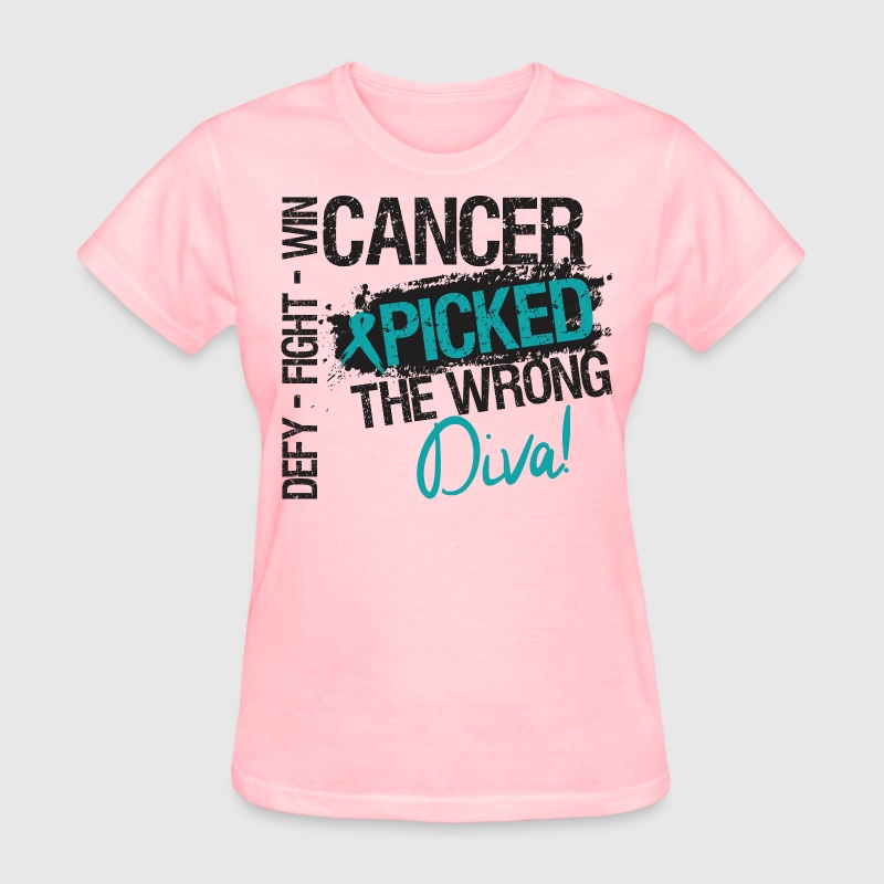 Defy Fight Win Cancer Picked The Wrong Diva - Women's T-Shirt