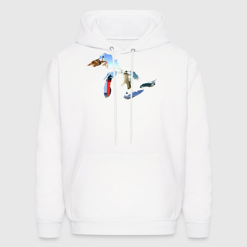 Michigan Great Lakes Lighthouses  Hoodies - Men's Hoodie