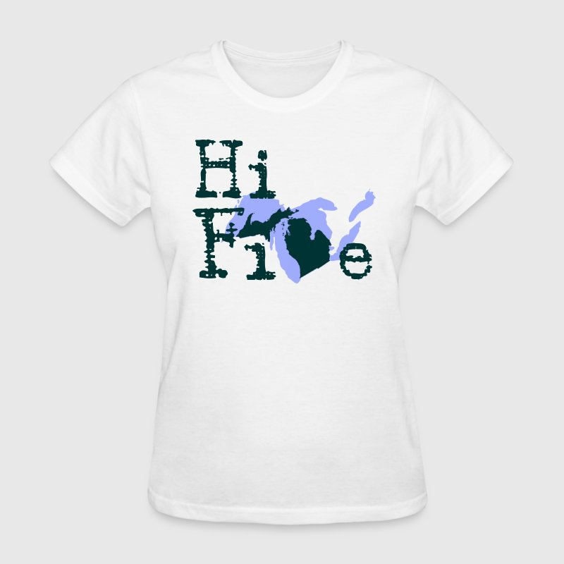 Funny Michigan America's High Five Women's T-Shirts - Women's T-Shirt