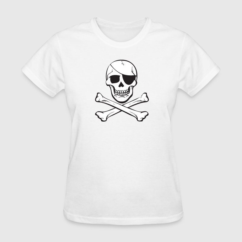 Classic Skull & Crossbones Pirate Anarchy Women's T-Shirts - Women's T-Shirt