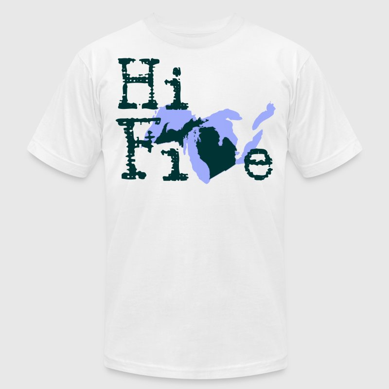 Funny Michigan America's High Five T-Shirts - Men's T-Shirt by American Apparel