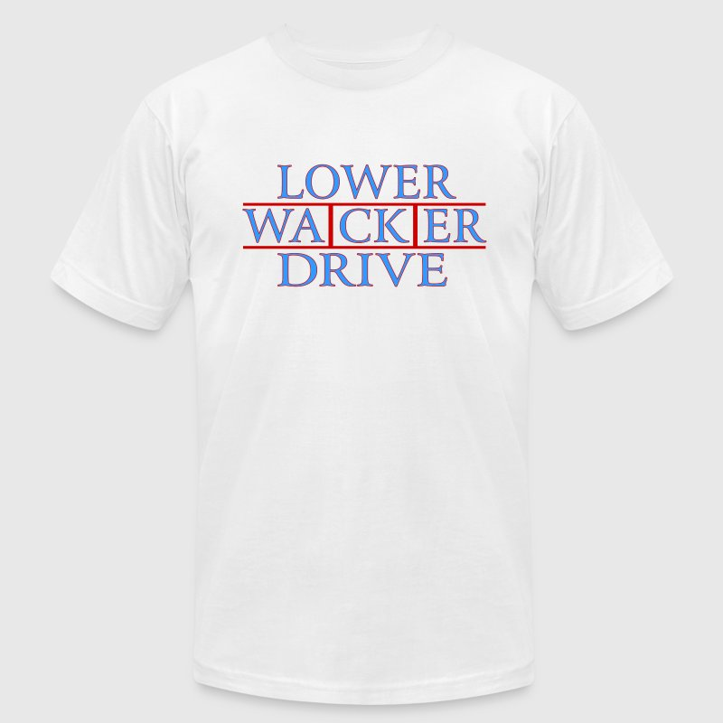 Lower Wacker Drive Chicago Streets T-Shirts - Men's T-Shirt by American Apparel