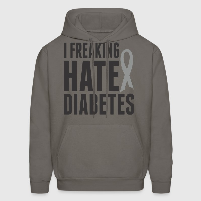 I Freaking Hate Diabetes - Men's Hoodie