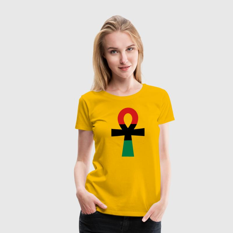 Red, Black & Green Ankh Women's T-Shirts - Women's Premium T-Shirt