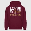 I Teach My Kid To Hit Steal - Men's Hoodie