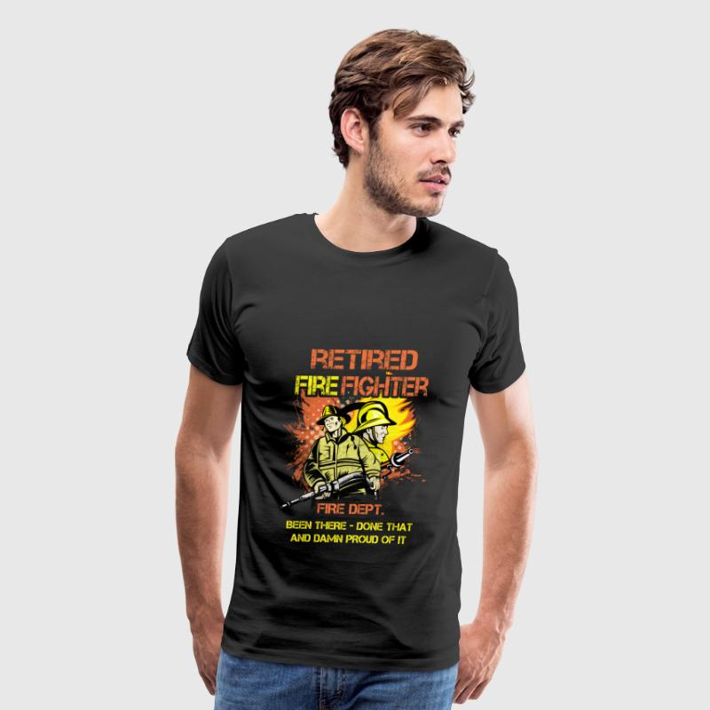 Firefighter T-shirt - Retired firefighter - Men's Premium T-Shirt