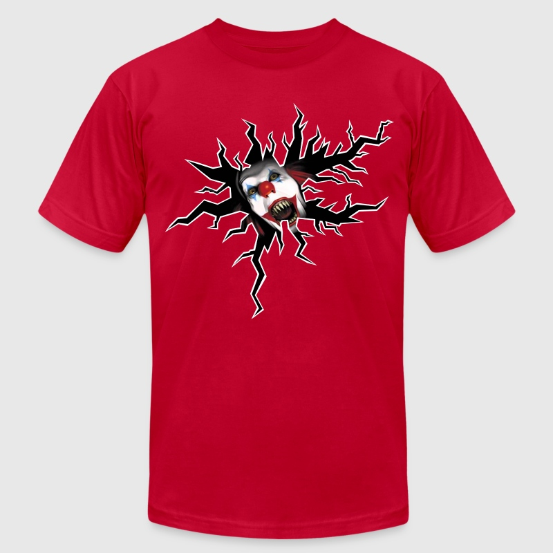 Scary Clown T-Shirts - Men's T-Shirt by American Apparel