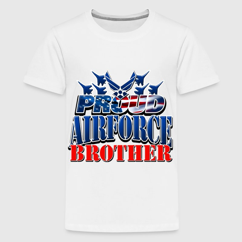Proud Airforce Brother Kids' Shirts - Kids' Premium T-Shirt
