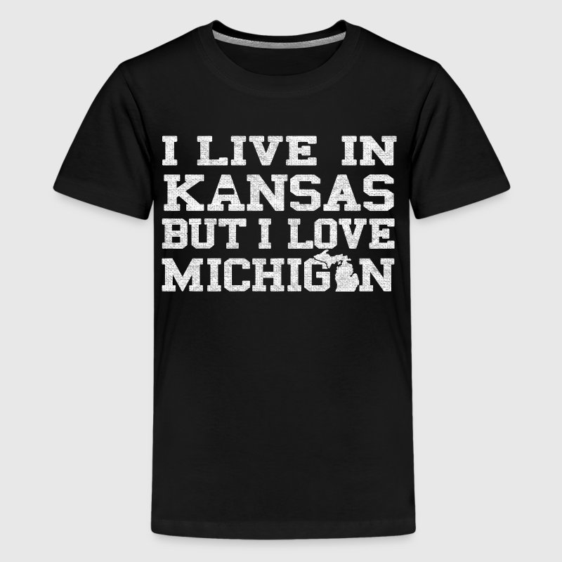 Live Kansas Love Michigan Pride MItten Kids' Shirts - Kids' Premium T-Shirt