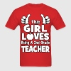 This Girl Loves Being A 2nd Grade Teacher T-Shirts - Men's T-Shirt