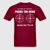 Passenger Instructions Press Here Hang On Tight - Men's T-Shirt