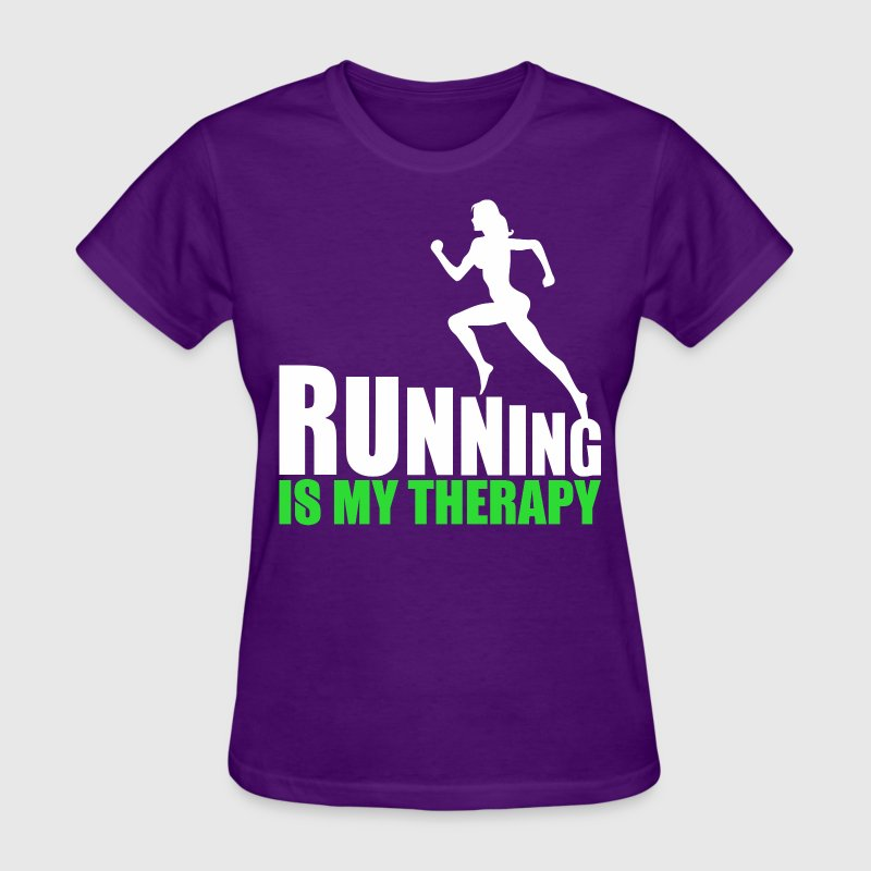 Running Is My Therapy - Women's T-Shirt