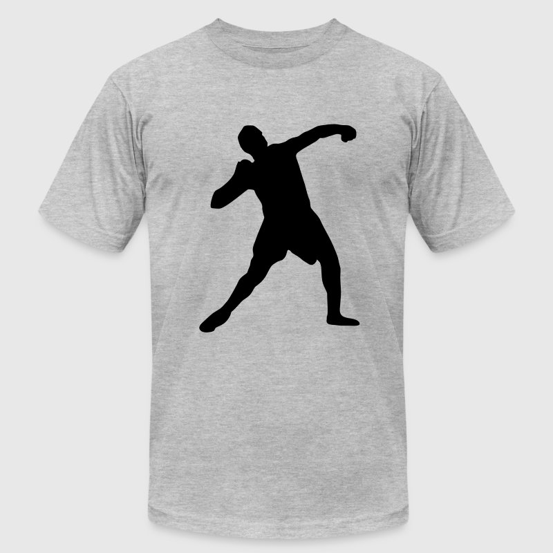 Shot put, track and field T-Shirts - Men's T-Shirt by American Apparel