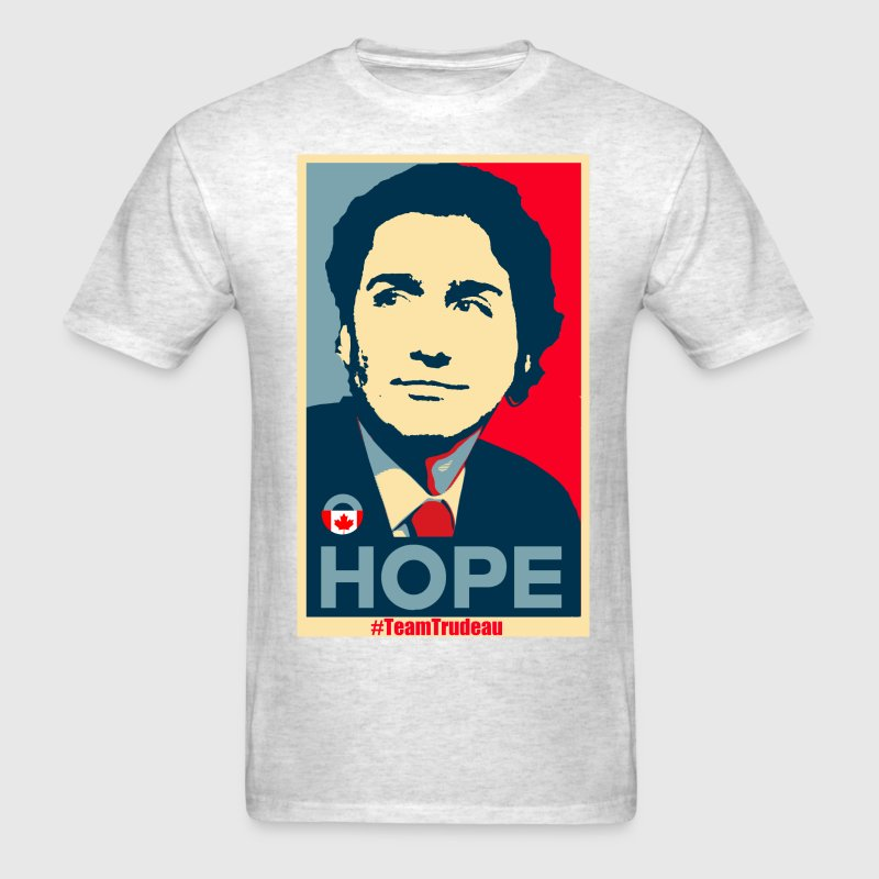 Justin Trudeau brings Hope - Men's T-Shirt
