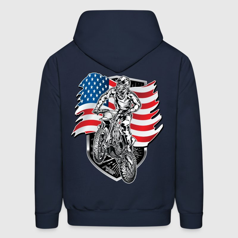 Motocross USA Flag Hoodies - Men's Hoodie