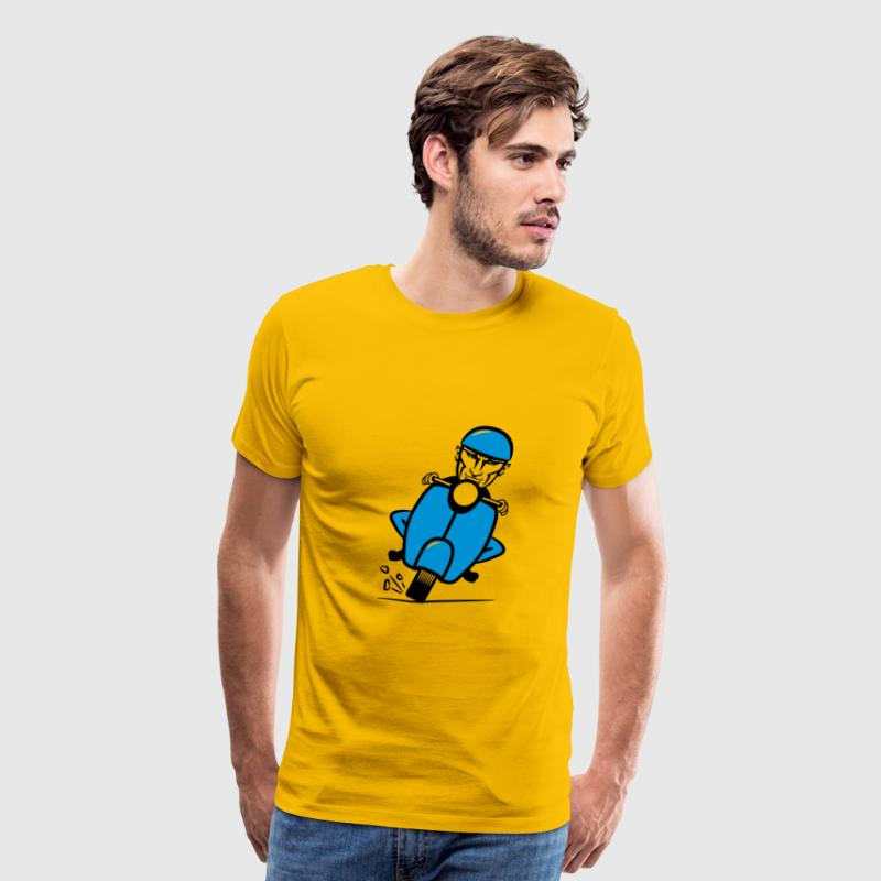 Scooter racing funny T-Shirts - Men's Premium T-Shirt