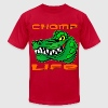 Chomp Life Gator  - Men's T-Shirt by American Apparel
