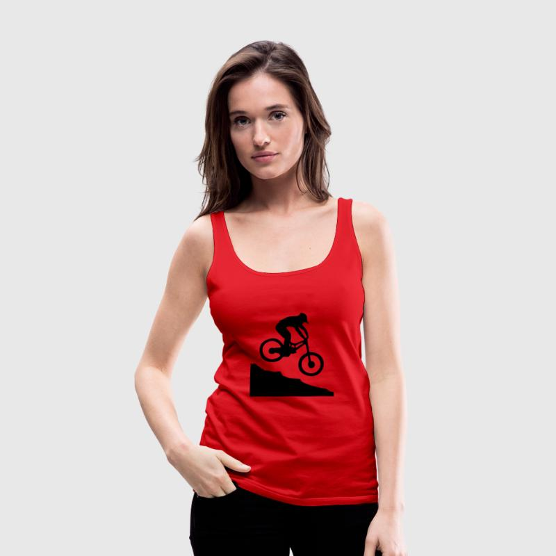 Downhill Mountain Biking Tanks - Women's Premium Tank Top