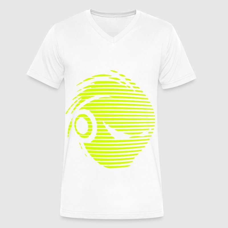 deejay logo T-Shirts - Men's V-Neck T-Shirt by Canvas
