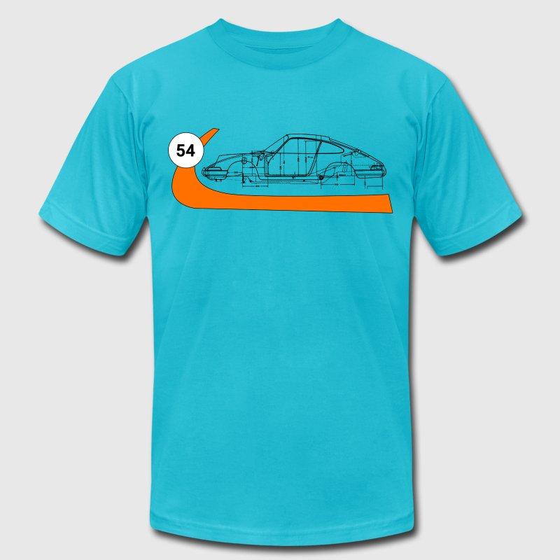 Gulf 911 Race Blueprint - Men's T-Shirt by American Apparel
