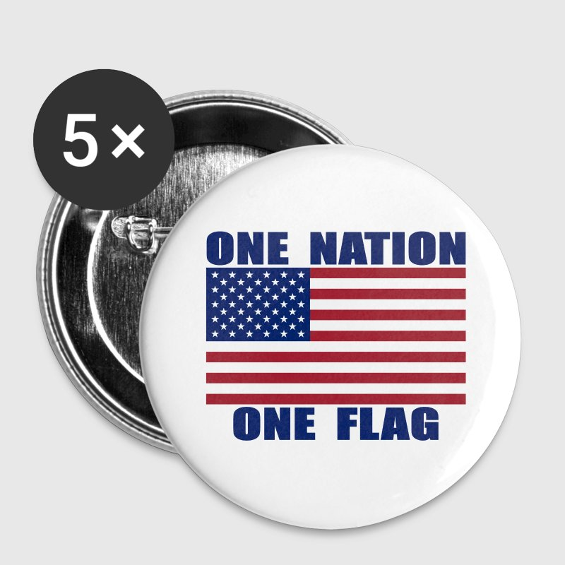 ONE NATION ONE FLAG Buttons 5-Pack - Large Buttons
