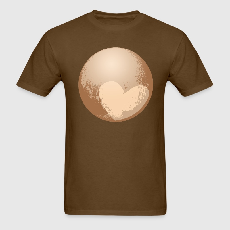 Cute Pluto Heart T-shirt - Men's T-Shirt