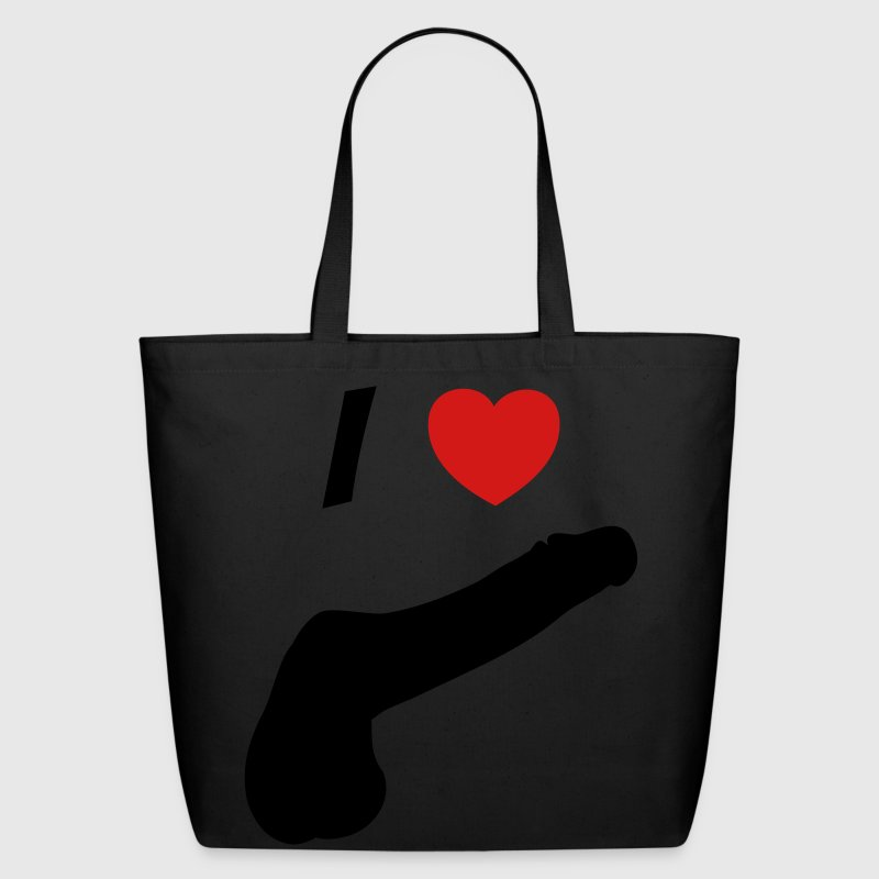 I love cock Bags & backpacks - Eco-Friendly Cotton Tote