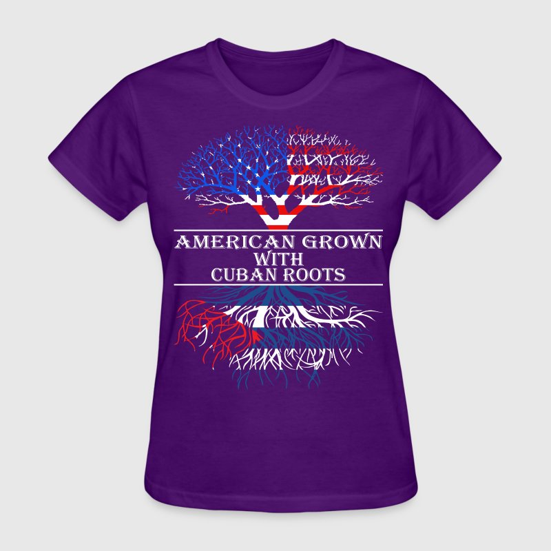 American Grown With Cuban Roots - Women's T-Shirt