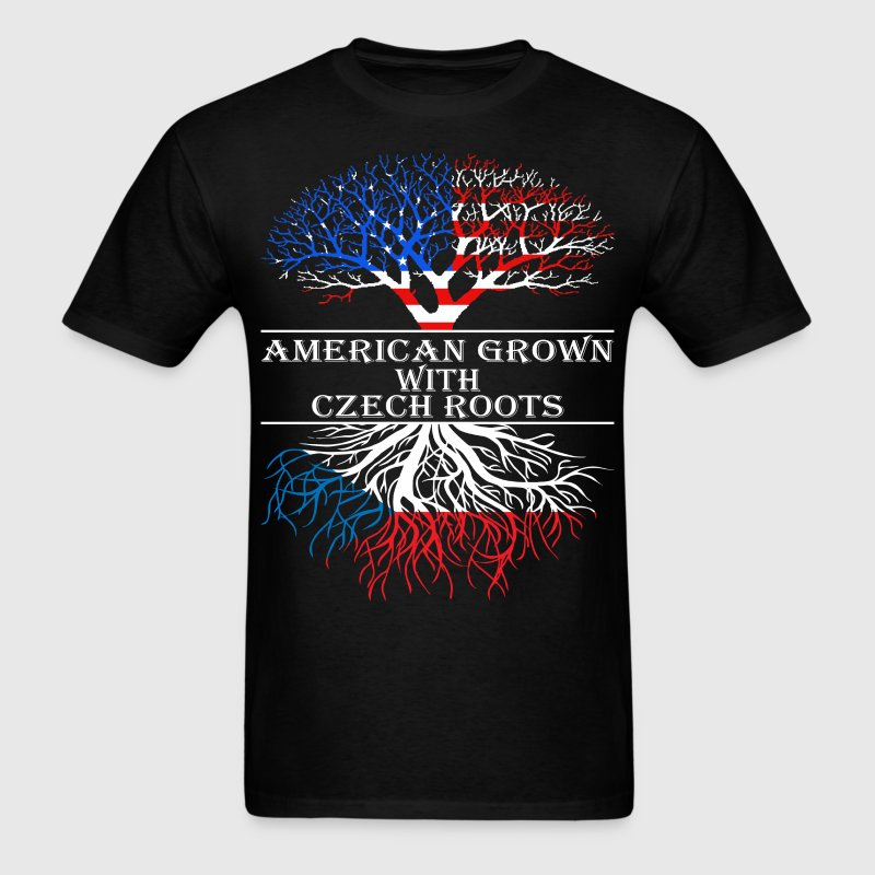 American Grown With Czech Roots - Men's T-Shirt