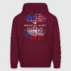 American Grown With Czech Roots - Men's Hoodie