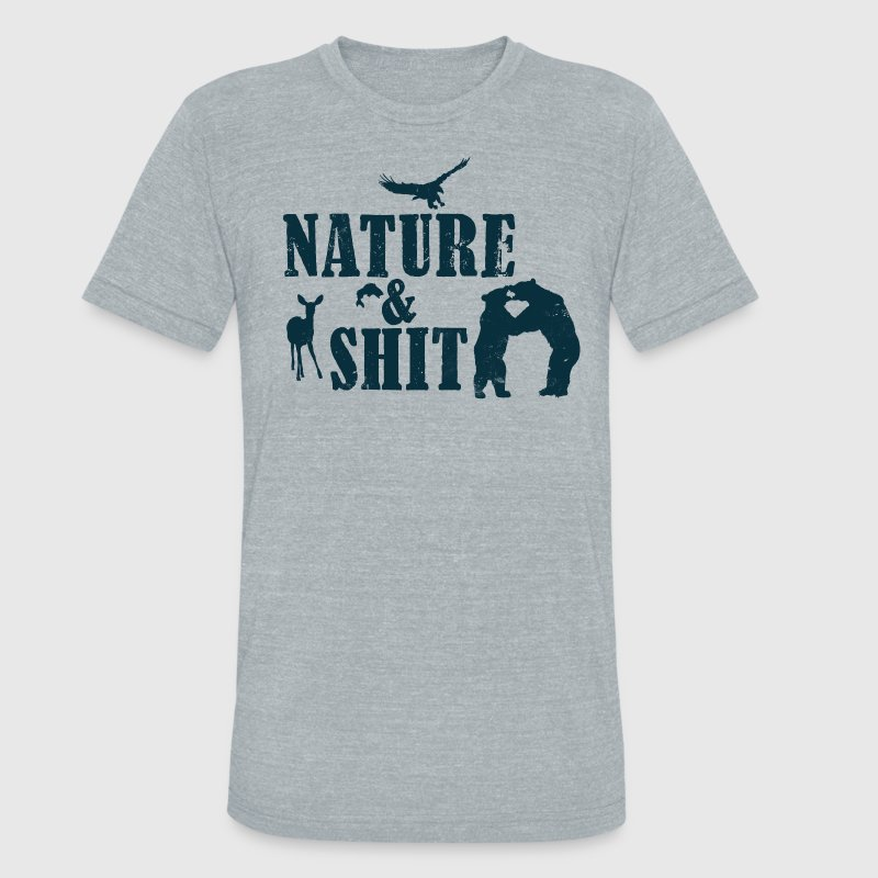 NATURE & SHIT T-Shirts - Unisex Tri-Blend T-Shirt by American Apparel