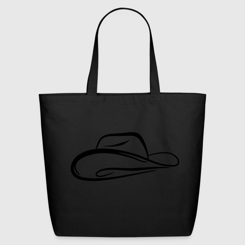A sketch of a cowboy hat Bags & backpacks - Eco-Friendly Cotton Tote